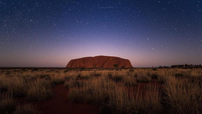 ayers rock night sky